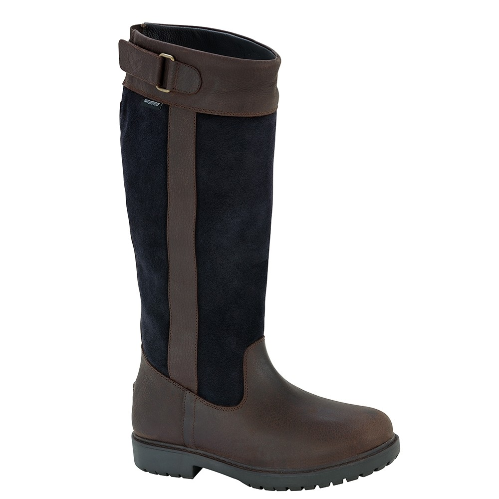HOGGS OF FIFE Cleveland Ladies Country Boots in Navy/Brown