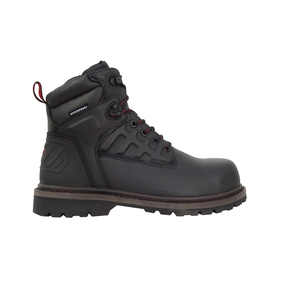 HOGGS OF FIFE Hercules Safety Lace-up Boots in Black