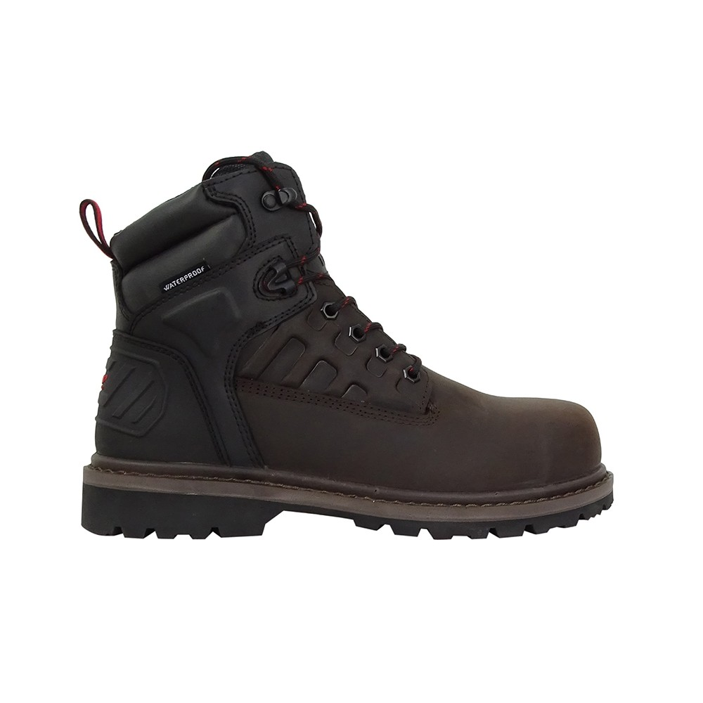 HOGGS OF FIFE Hercules Safety Lace-up Boots Crazy Horse Brown