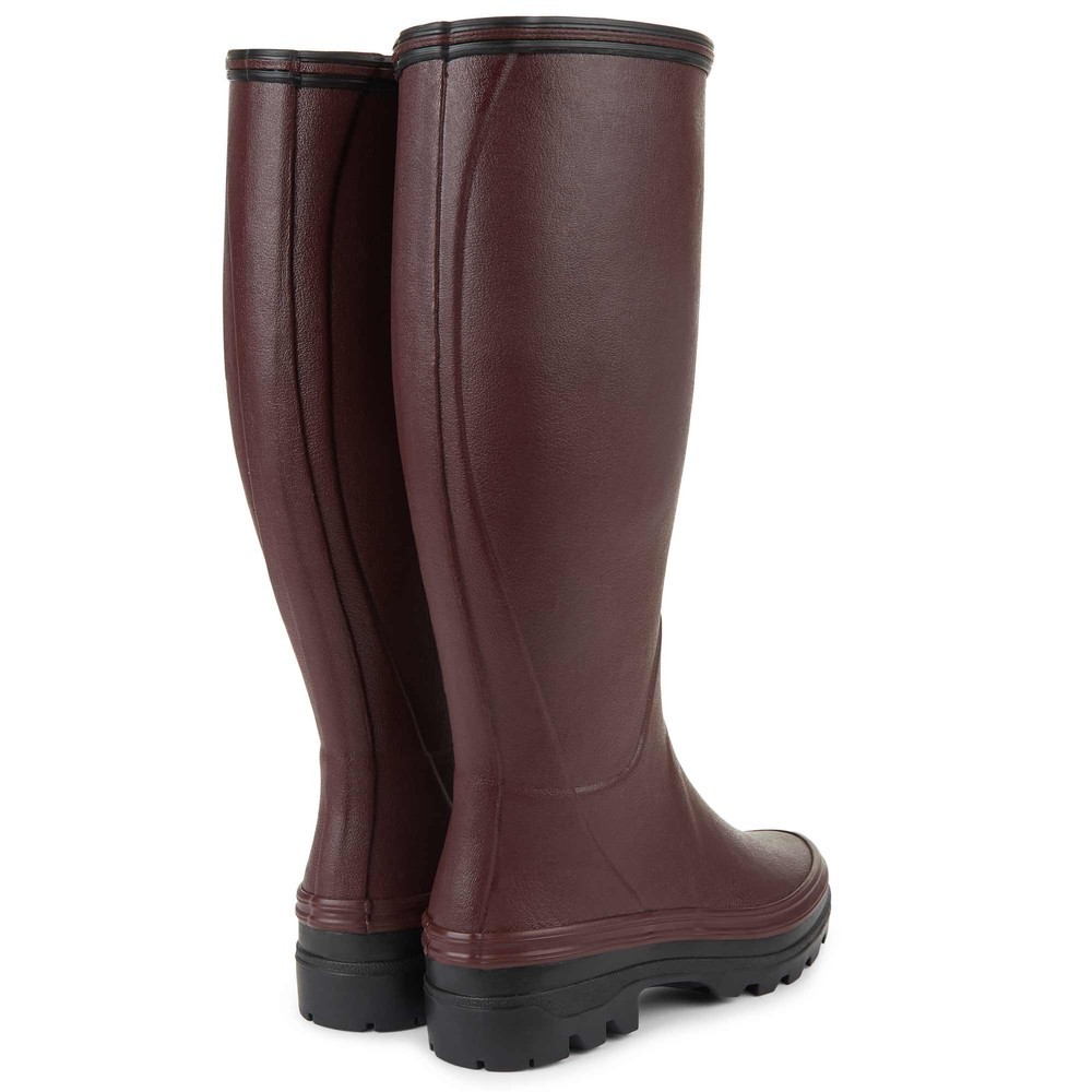 Le Chameau Giverny Jersey Lined Women's Wellington Boots Cherry