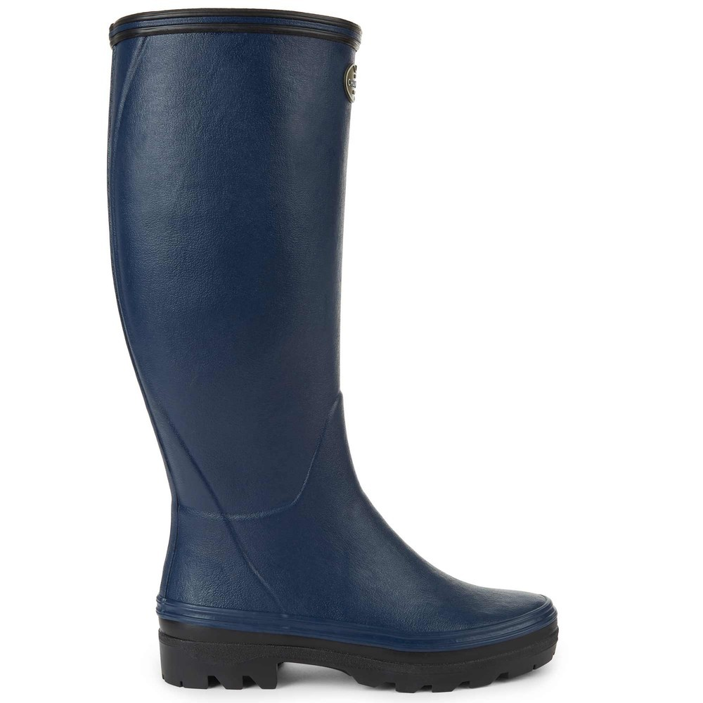 Le Chameau Giverny Jersey Lined Women's Wellington Boots Marine