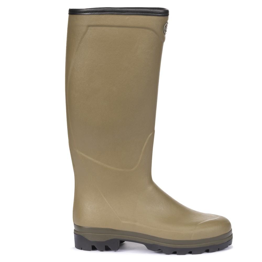 Le Chameau Country Cross Neoprene Lined Men's Wellington Boots Vert Vierzon