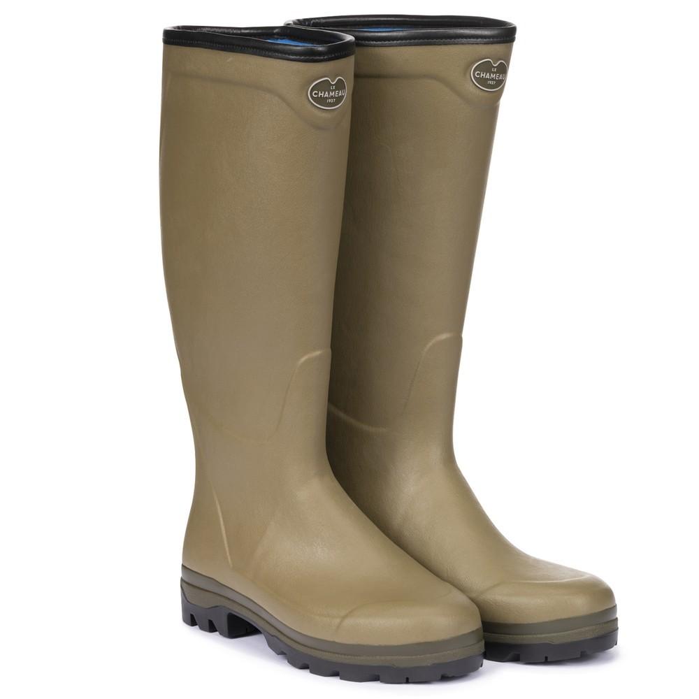 Le Chameau Le Chameau Country Cross Neoprene Lined Men's Wellington Boots - Vert Vierzon