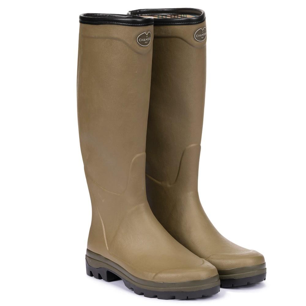 Le Chameau Le Chameau Country Cross Jersey Lined Men's Wellington Boots - Vert Vierzon