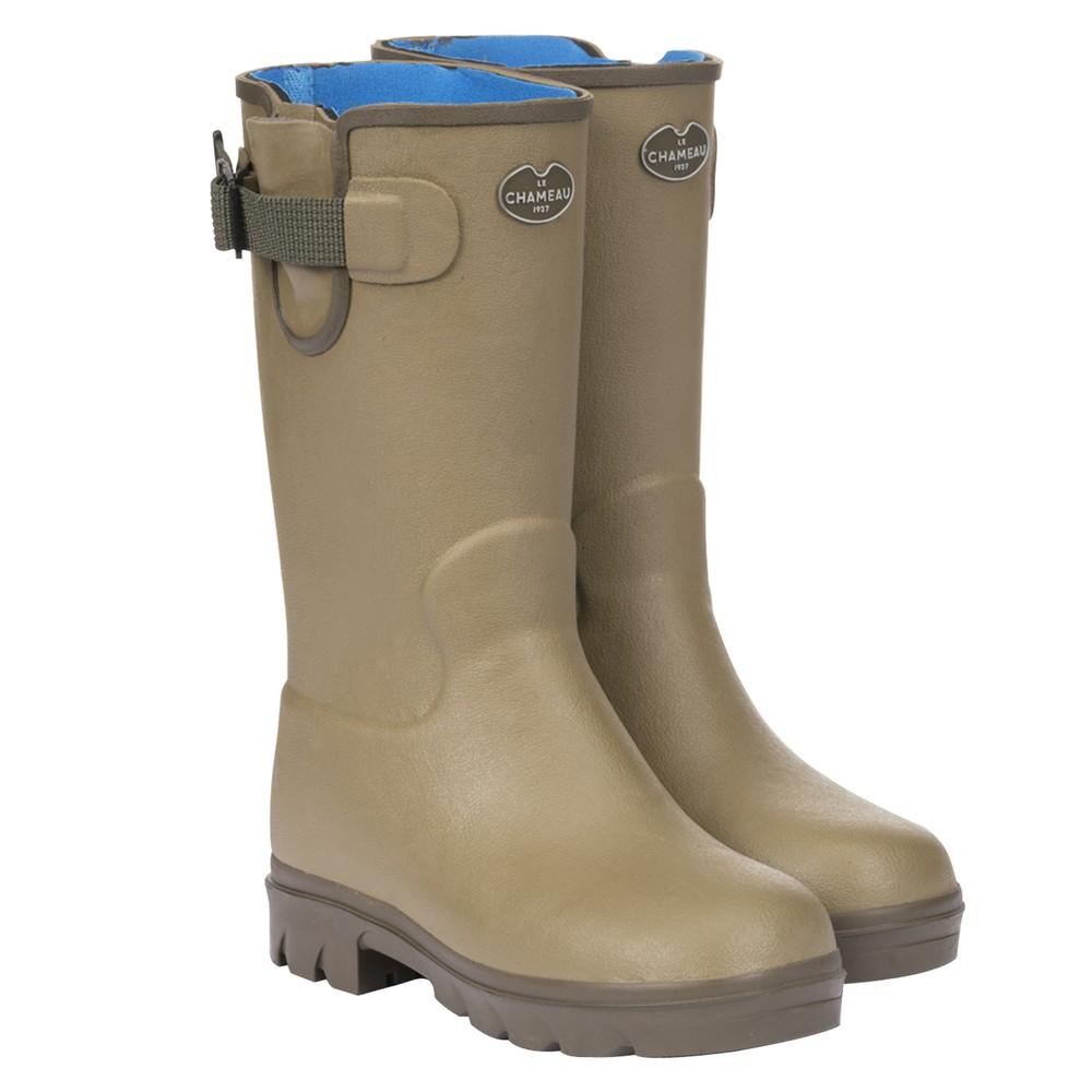 Le Chameau Vierzonord Neoprene Lined Children's Wellington Boots Vert Vierzon