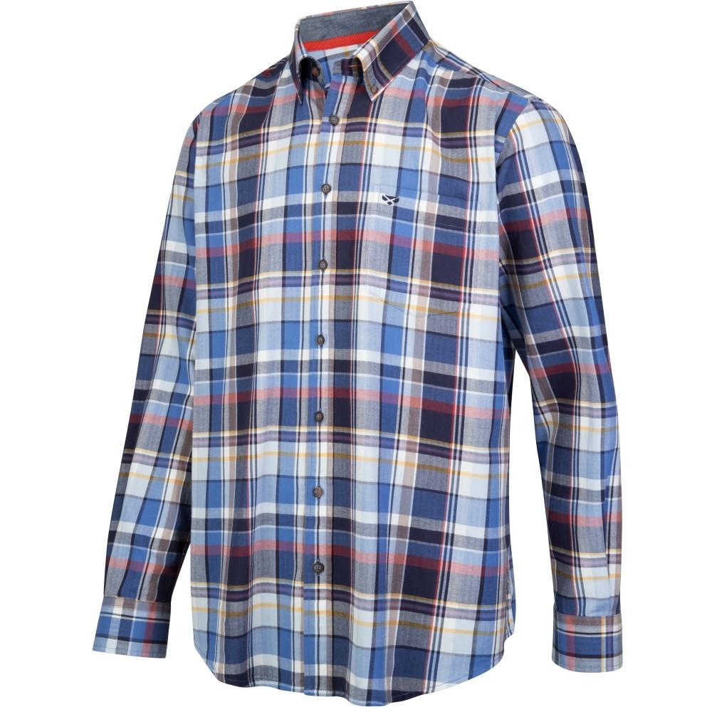 HOGGS OF FIFE Luthrie LS Plaid Shirt Blue/White
