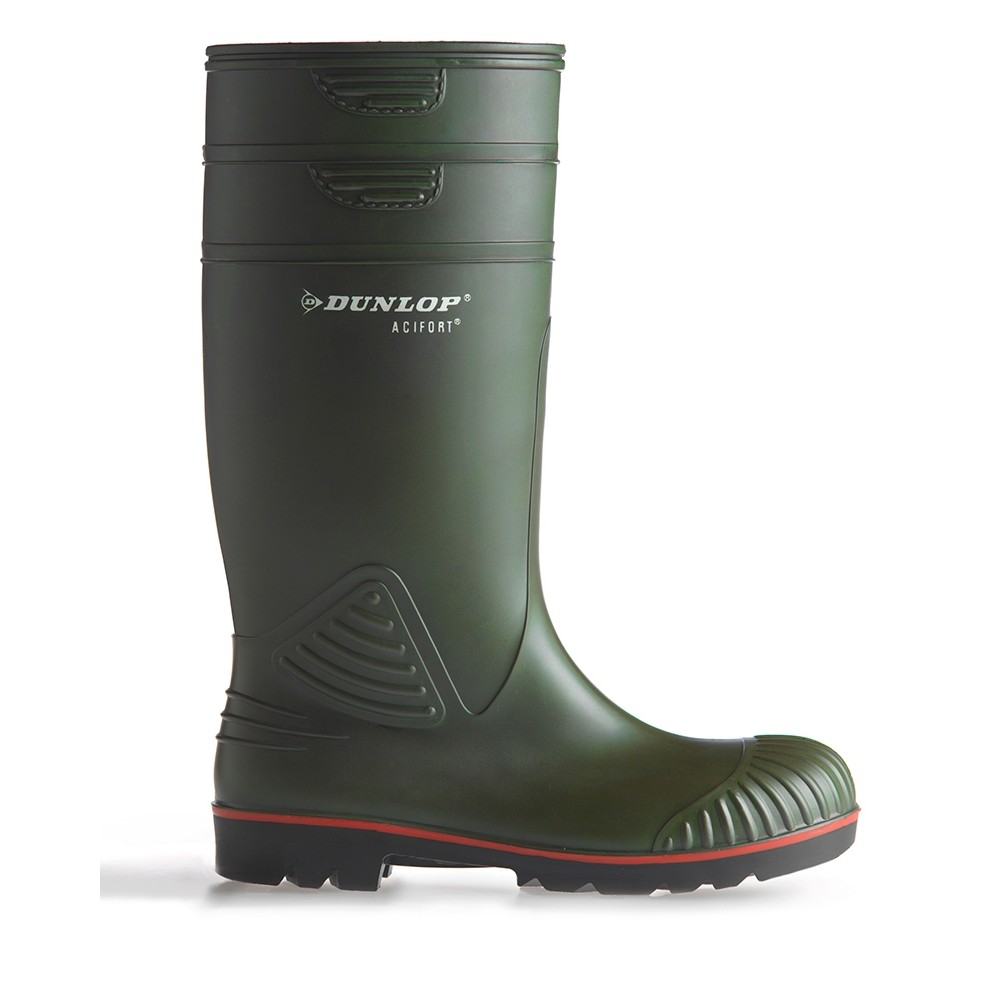 HOGGS OF FIFE Dunlop Acifort A442631 Heavy Duty Full Safety Wellingtons Field Green