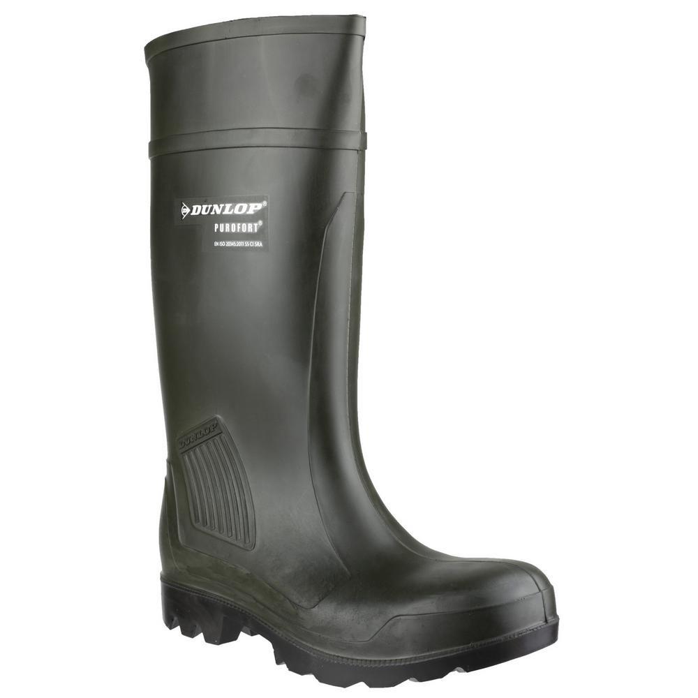 HOGGS OF FIFE Dunlop  C462933 Purofort Pro Full Safety Wellingtons Field Green