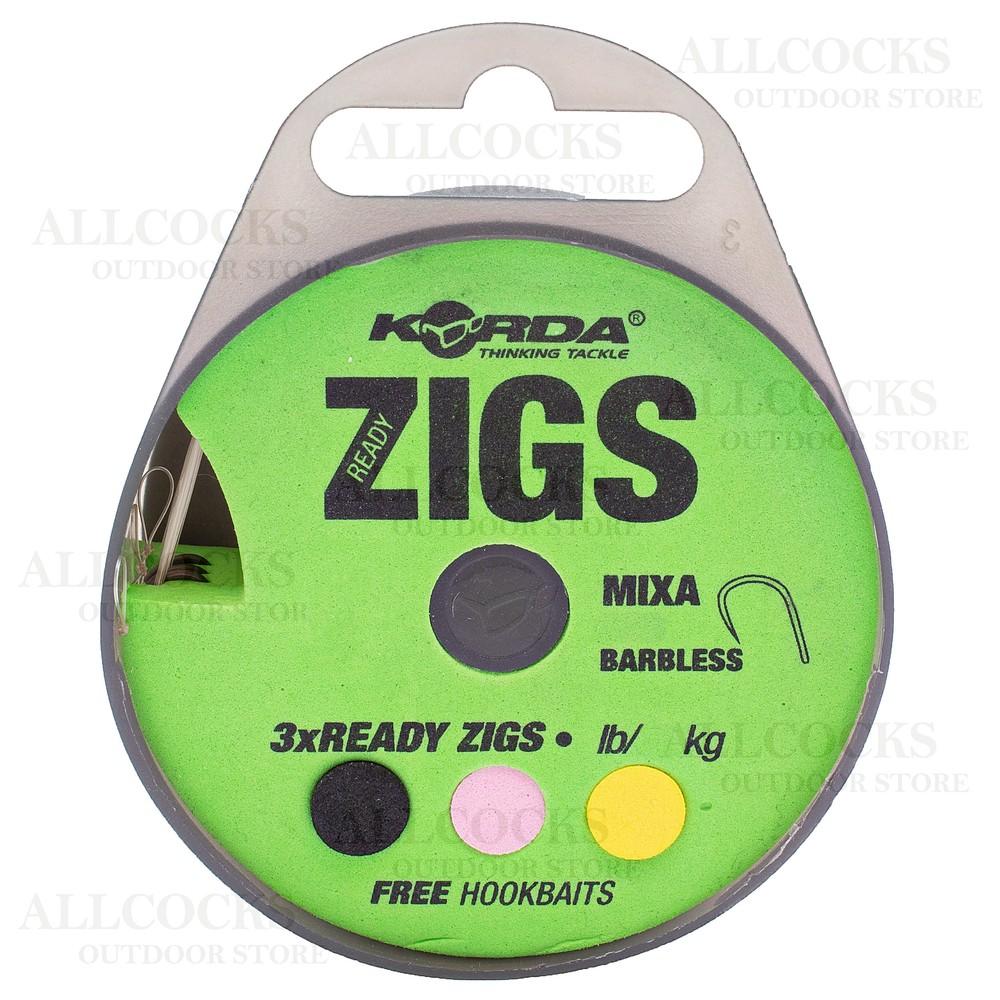 Korda Ready Tied Zig Rigs - Size 10 Barbless