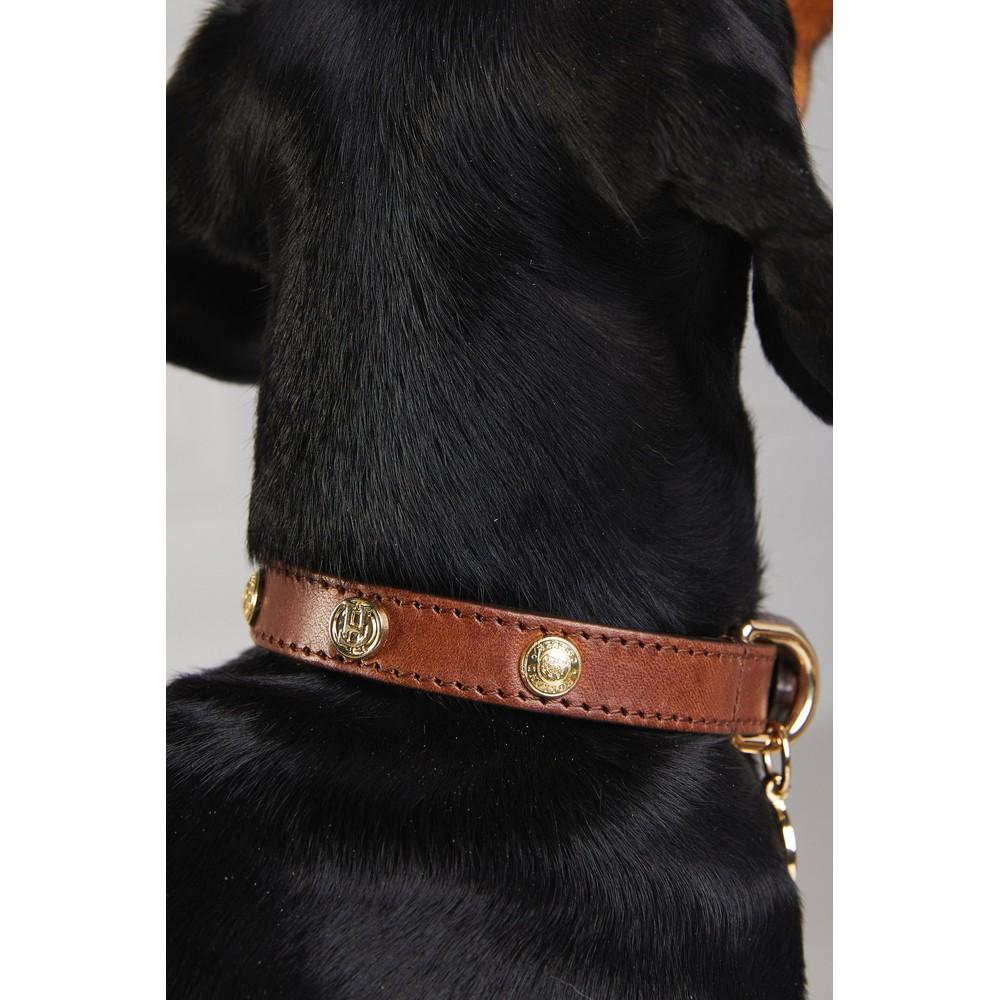 Holland Cooper Studded Dog Collar Chestnut