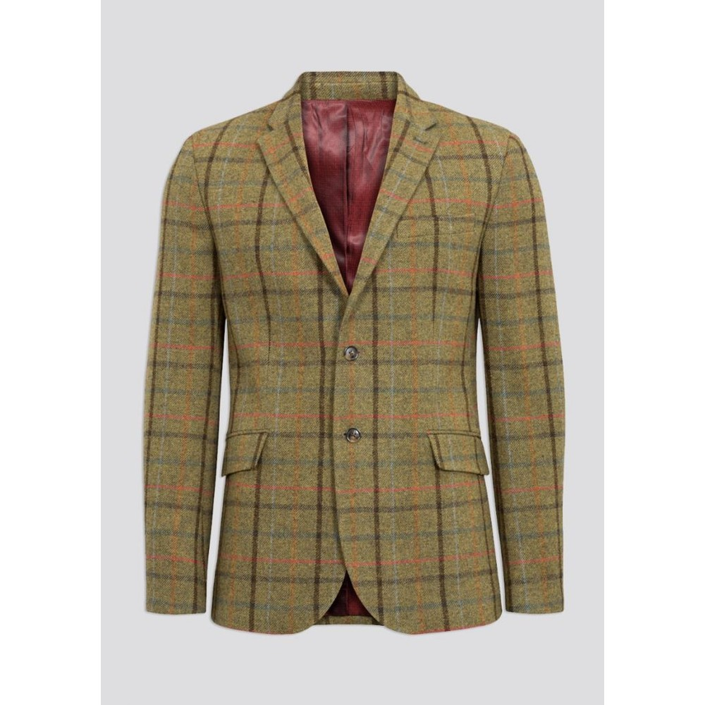 Alan Paine Alan Paine Surrey Tweed Lined Blazer - Country Green