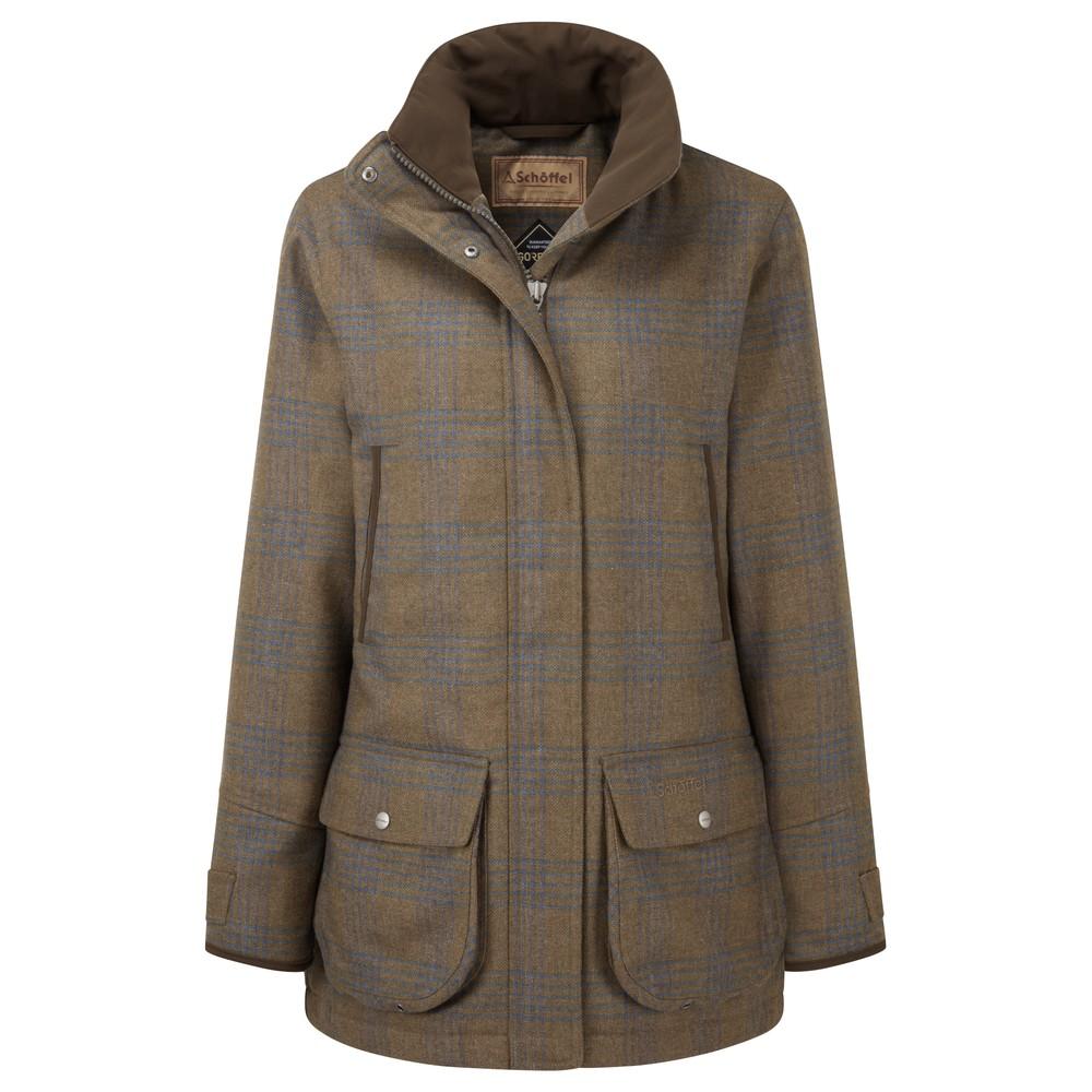 Schoffel Schoffel Ladies Ptarmigan Tweed Coat - Iona Tweed