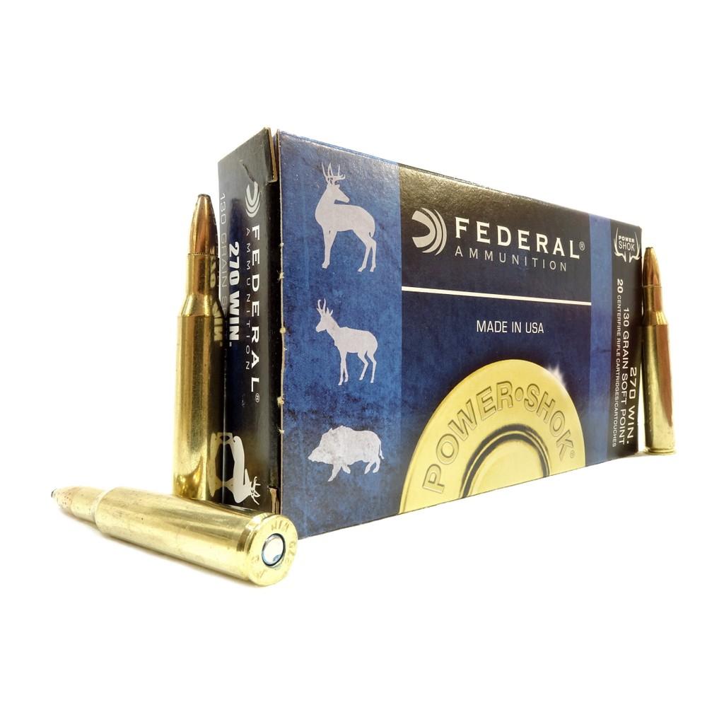 Federal .270 Ammunition - 130gr - Power-Shok