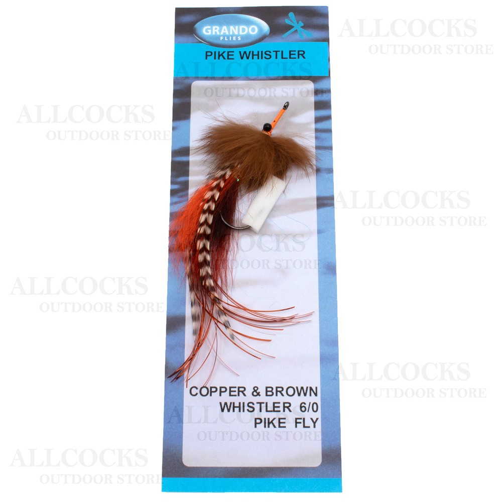 Grando Flies Pike Whistler Pike Fly Copper & Brown