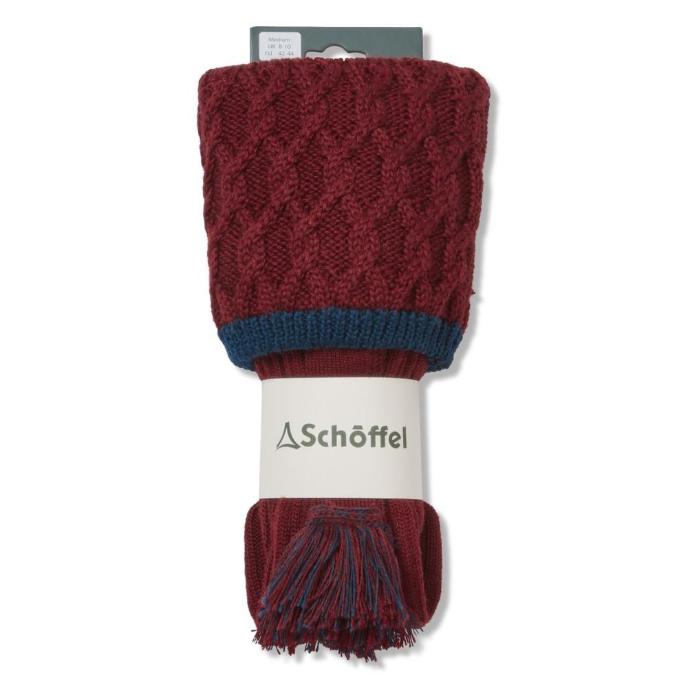 Schoffel Schoffel Lattice Sock - Bordeaux