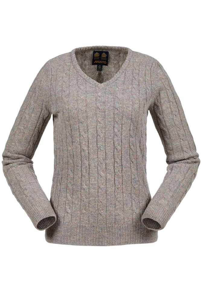Musto Women's Cable V-Neck
