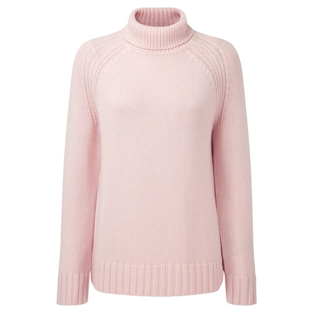 Schoffel Schoffel Merino Cosy Roll Neck Jumper - Blush Pink