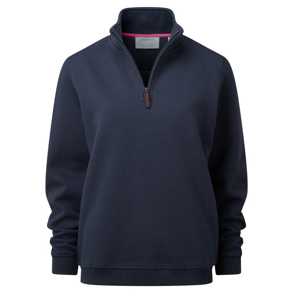 Schoffel Schoffel Ladies 1/4 Zip Sweatshirt - Navy