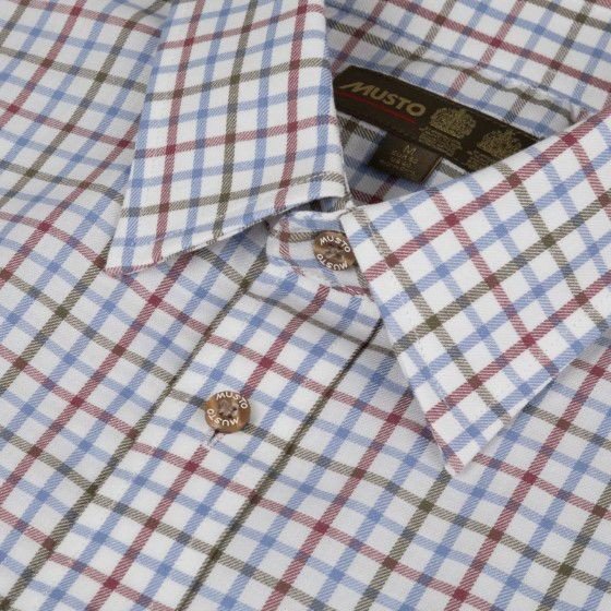 Musto Classic Twill Shirt Rutmoor Colbalt