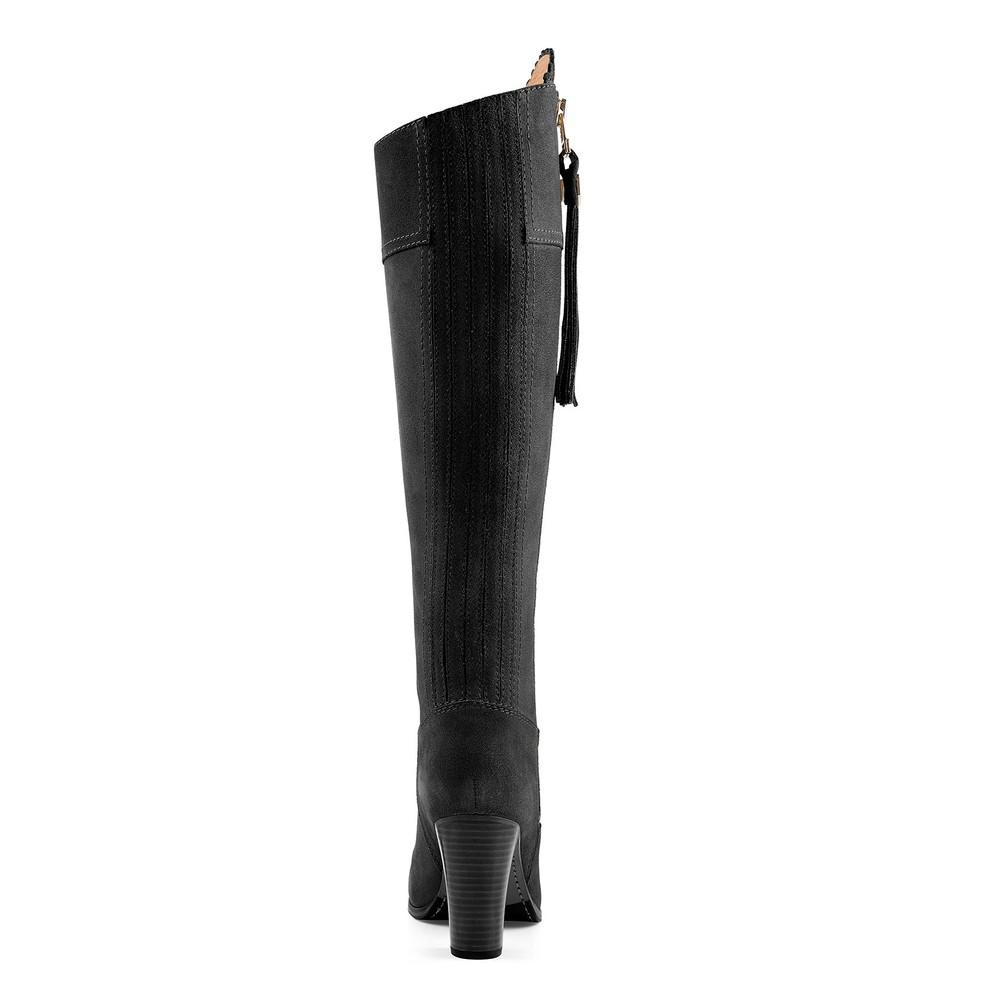Fairfax & Favor High Heeled Regina Boot Black