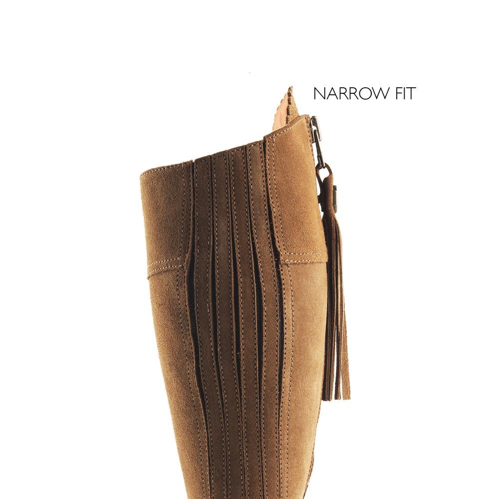 Fairfax & Favor Heeled Regina Boot - Narrow Fit Tan
