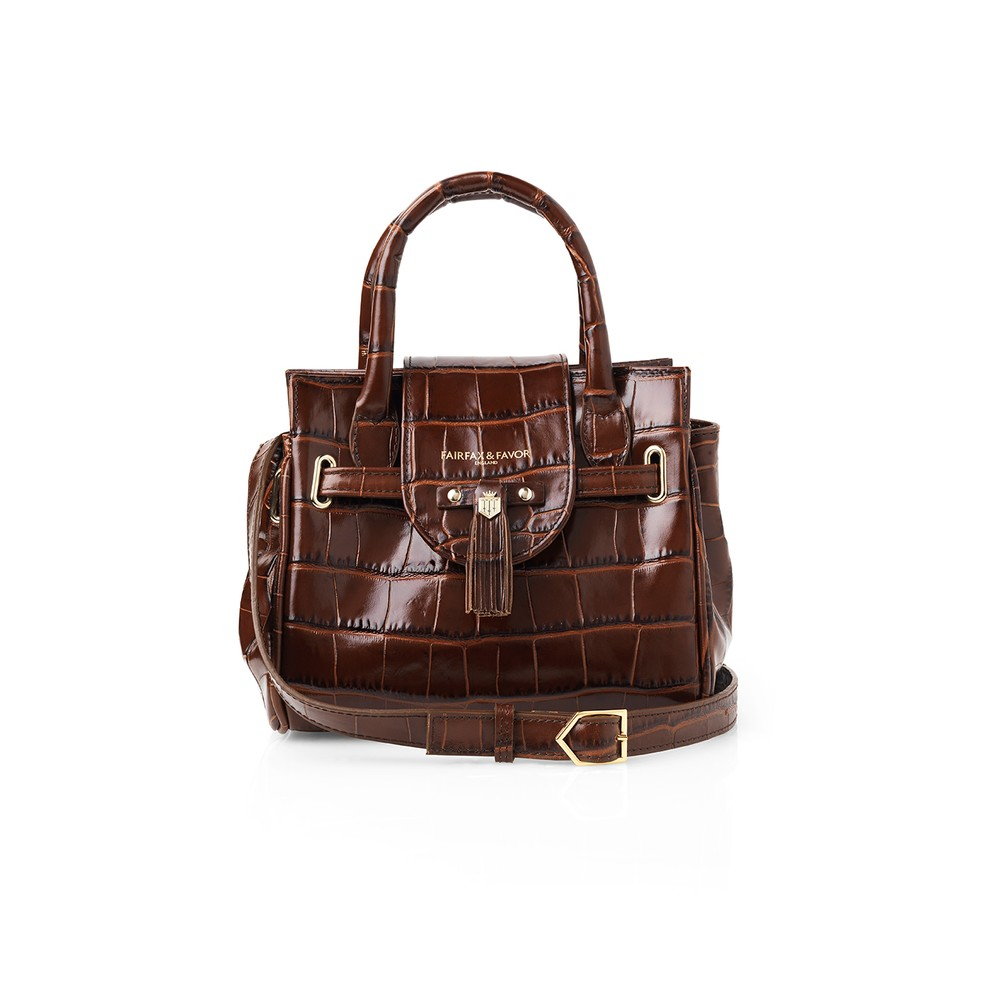 Fairfax & Favor Fairfax & Favor Mini Windsor Handbag - Conker Brown