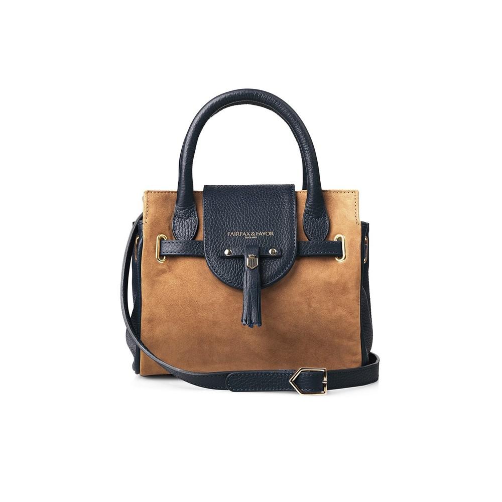 Fairfax & Favor Fairfax & Favor Mini Windsor Handbag - Tan/Navy