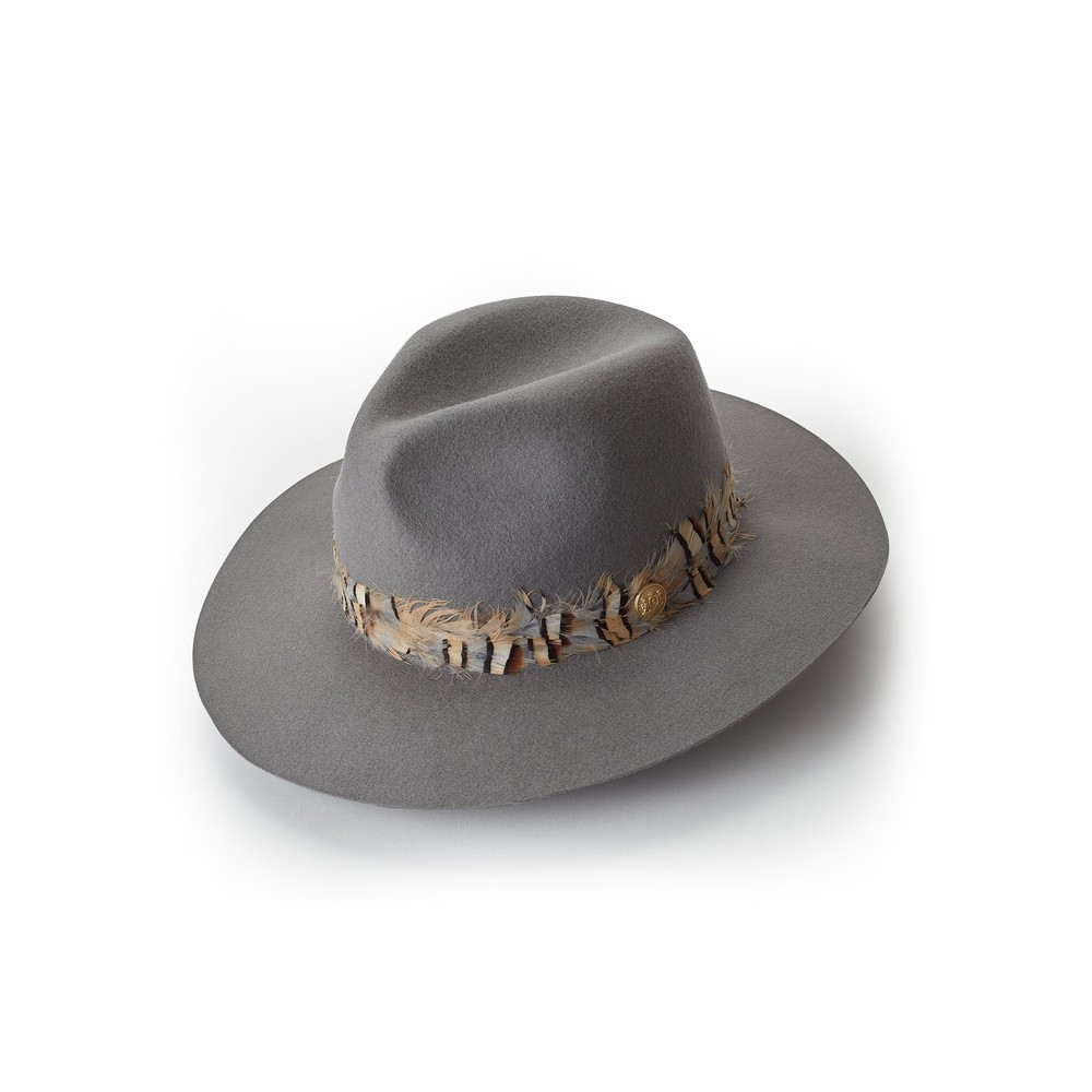 Holland Cooper Trilby Hat Double Feather Band