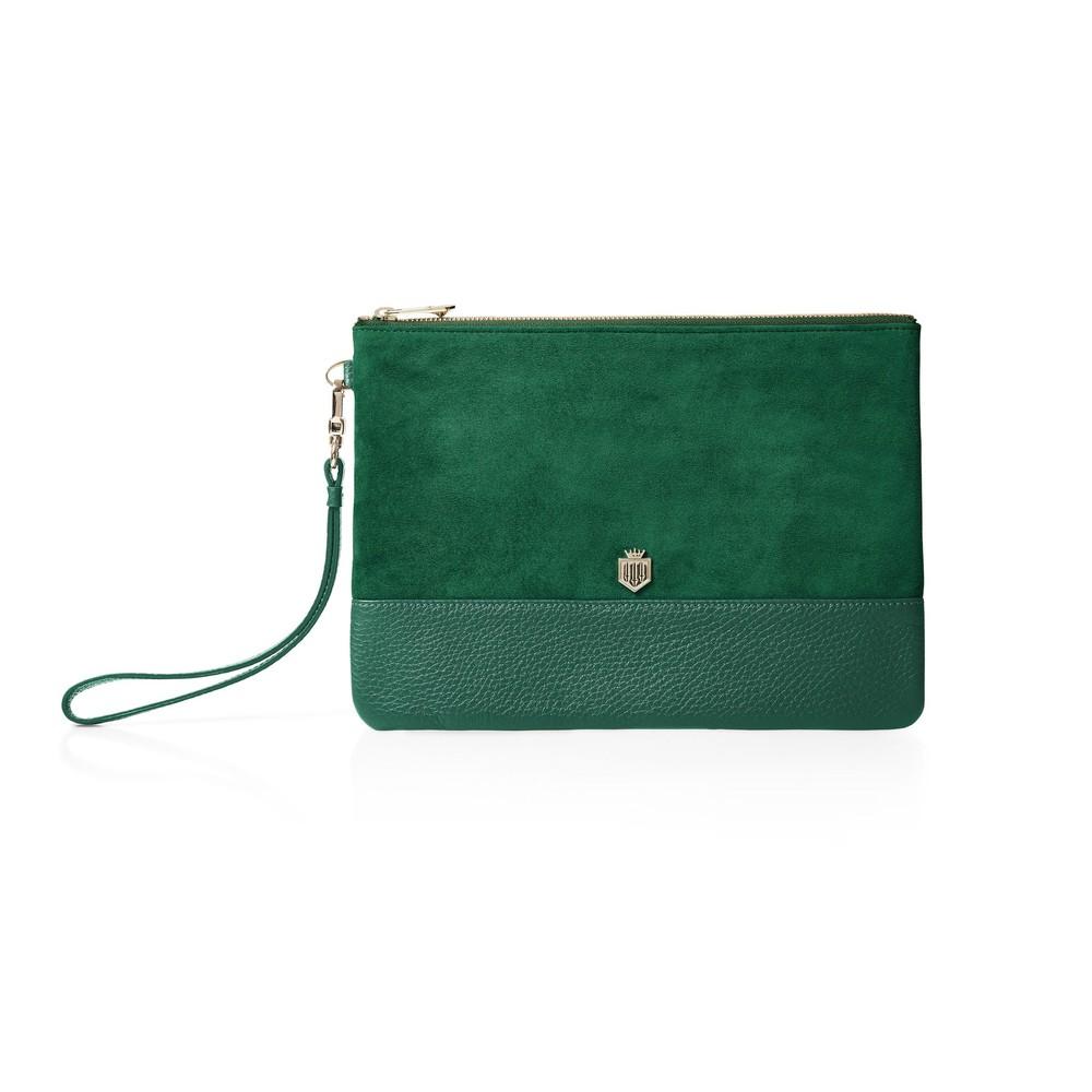 Fairfax & Favor Fairfax & Favor Highbury Clutch - Emerald Green