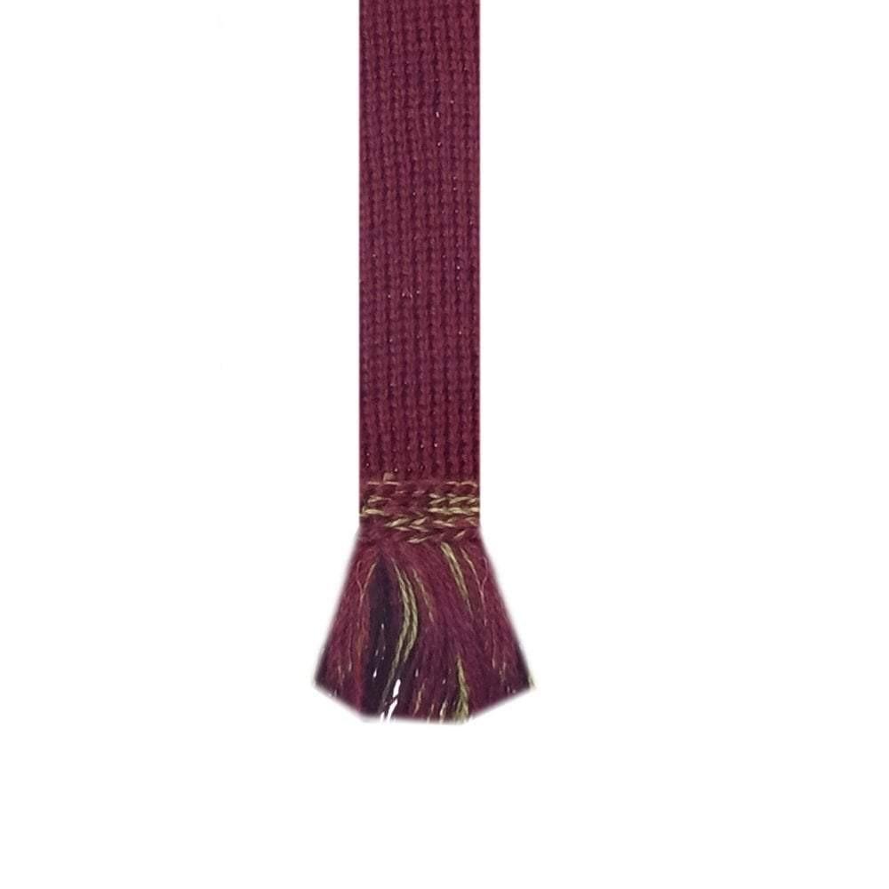 House of Cheviot Chessboard Sock with Garter Burgundy