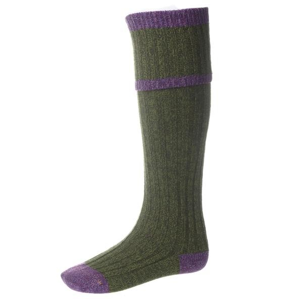 House of Cheviot House of Cheviot Kyle Sock with Garter - Scotspine