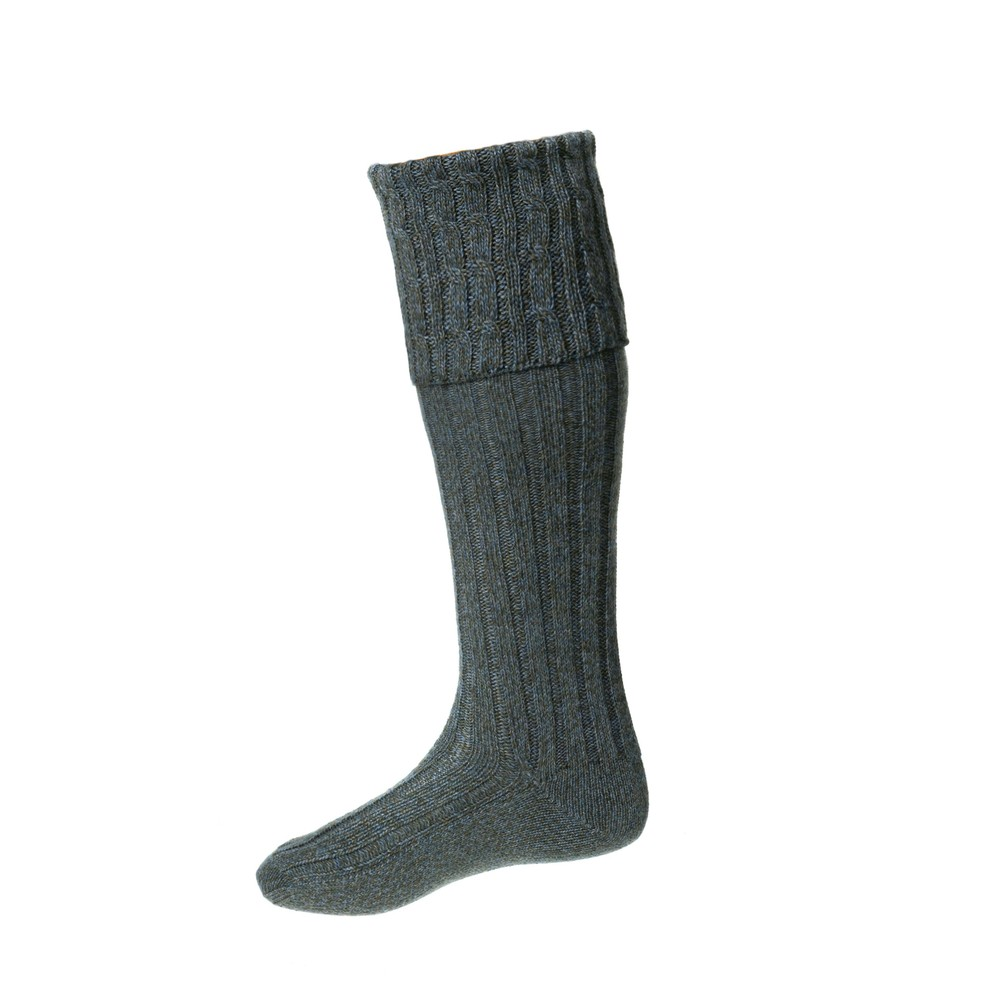 House of Cheviot House of Cheviot Harris Sock with Garter - Mist