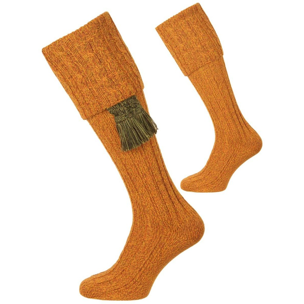 House of Cheviot House of Cheviot Harris Sock with Garter - Wildbroom