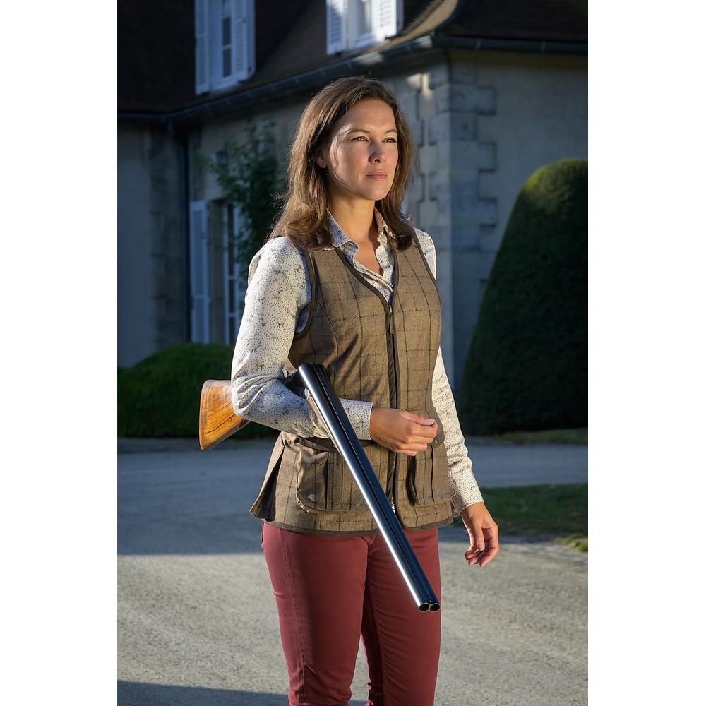 Baleno Kenwood Shooting Vest Khaki Tweed Check