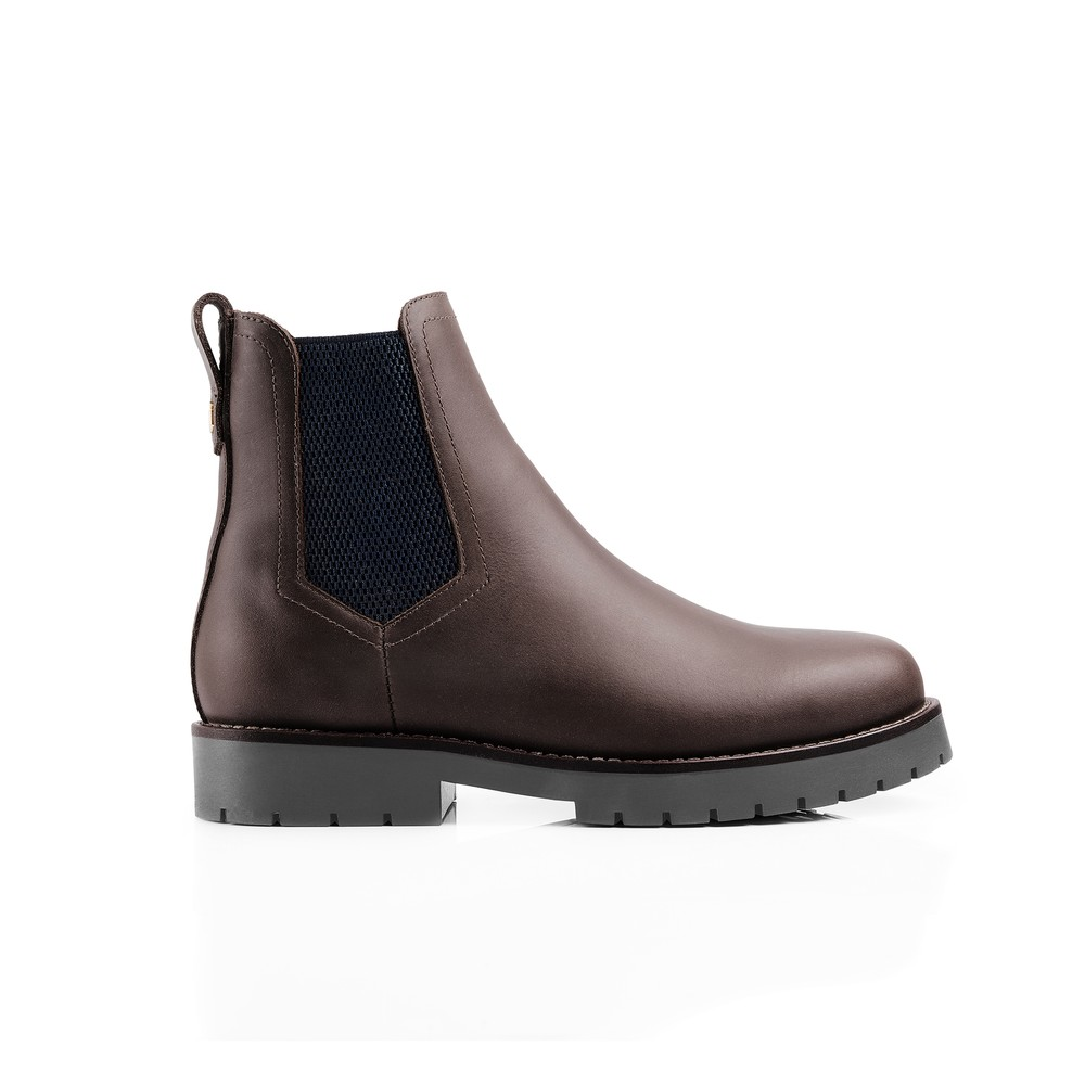 Fairfax & Favor Boudica Shearling Lined Ankle Boot Mahogany