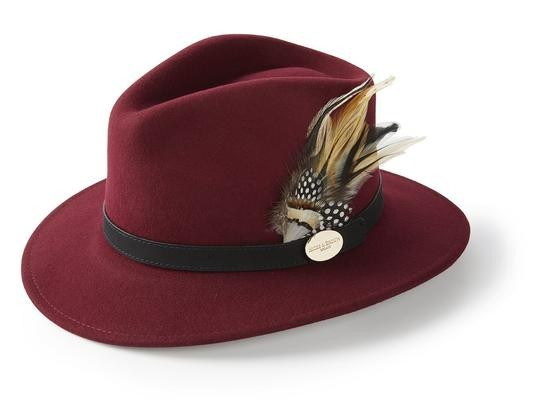 Hicks & Brown Suffolk Fedora Hat - Guinea and Pheasant Feather
