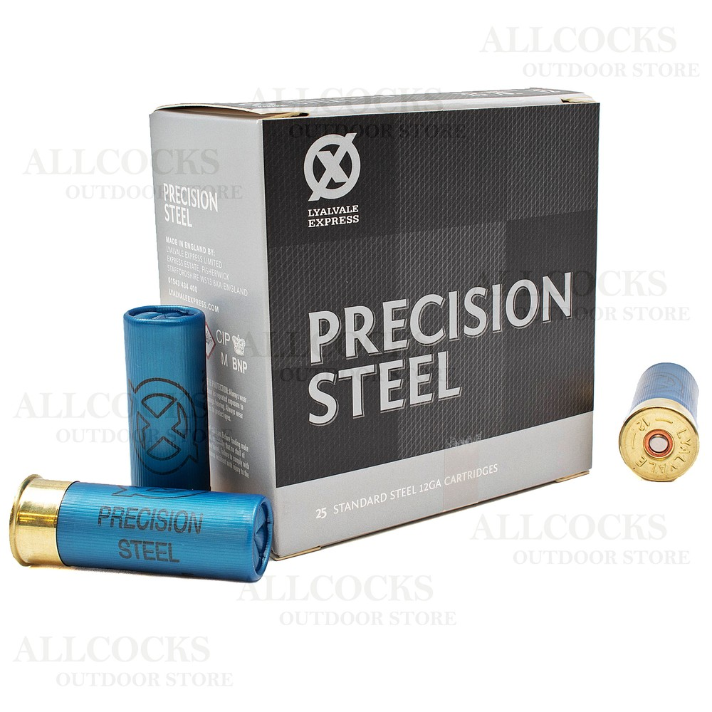 Lyalvale Express Express 12 Gauge - Precision Steel Shotgun Cartridges - 32gr - 4 Shot - Plastic x25