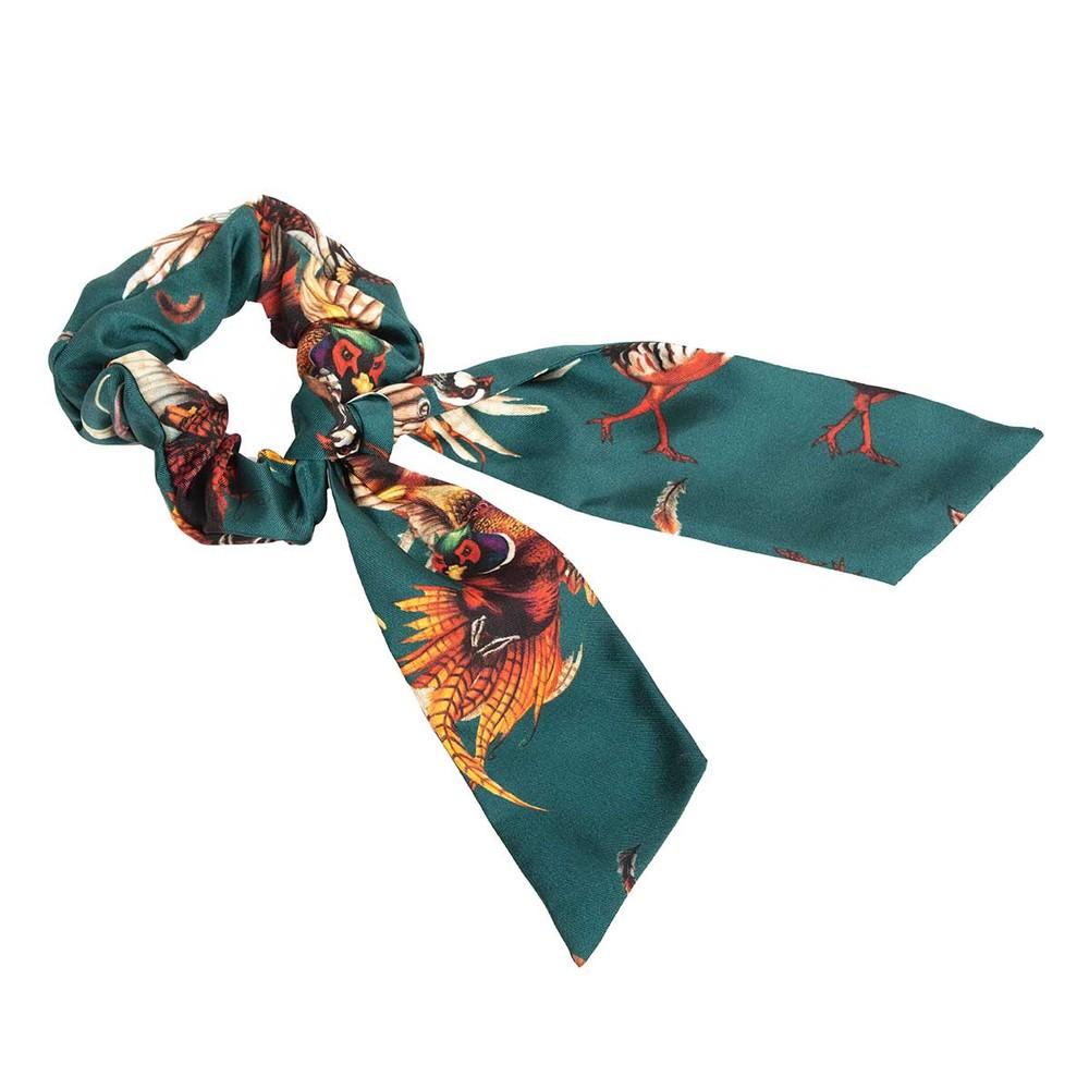 Clare Haggas Tantalising Silk Scrunchie - Medium Tail