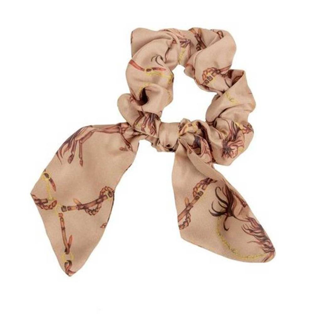 Clare Haggas Hold Your Horses Silk Scrunchie - Medium Tail