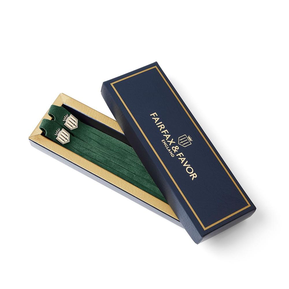 Fairfax & Favor Fairfax and Favour Suede Boot Tassel - Emerald Green