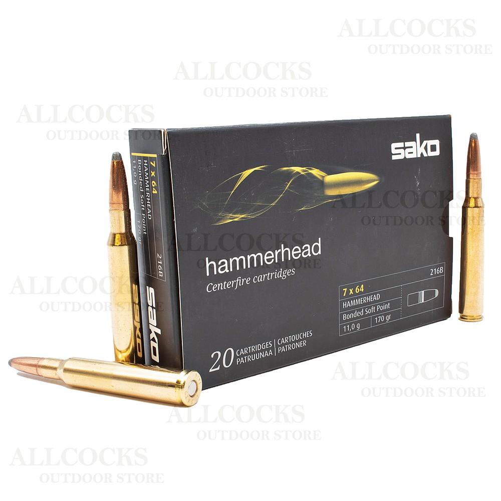 Sako 7x64 Ammunition - 170gr - Hammerhead