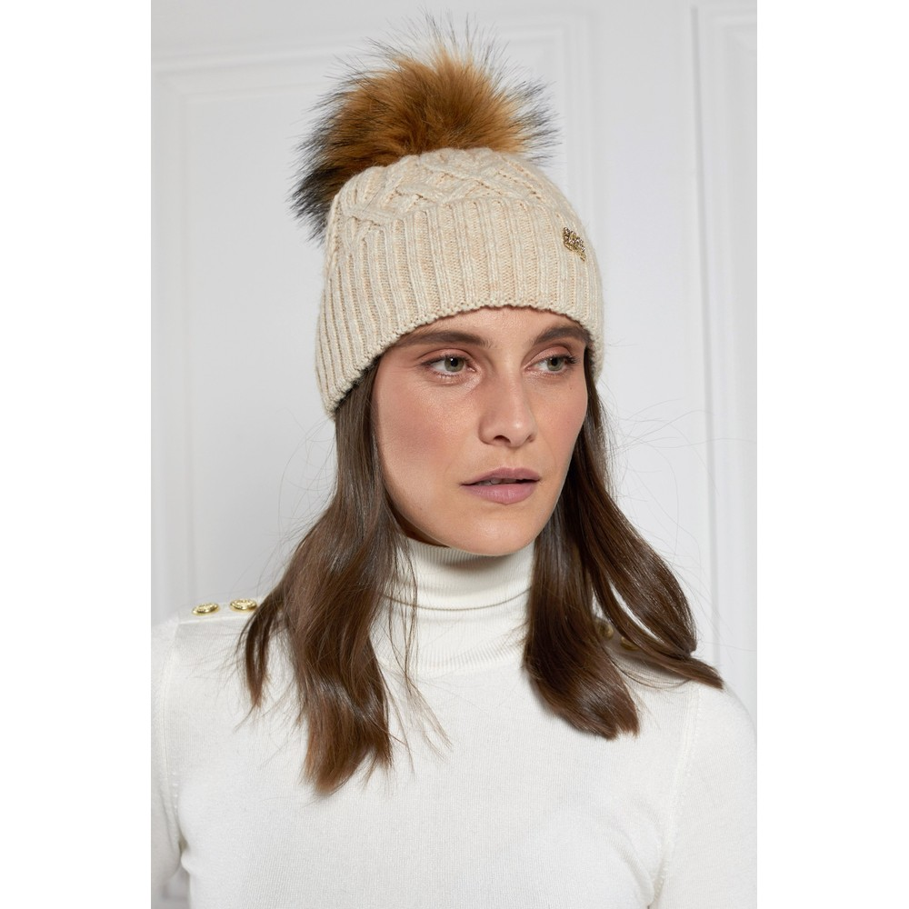 Holland Cooper Windsor Bobble Hat Oatmeal