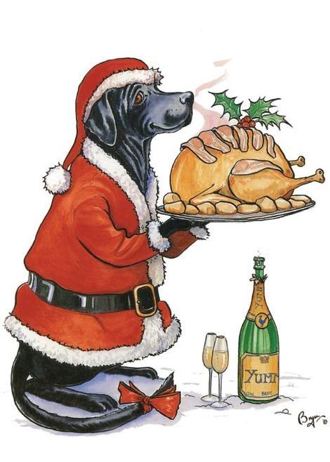 Countryside Greetings Countryside Greetings Bryn Perfect Presention Labrador Christmas Card - Labrador