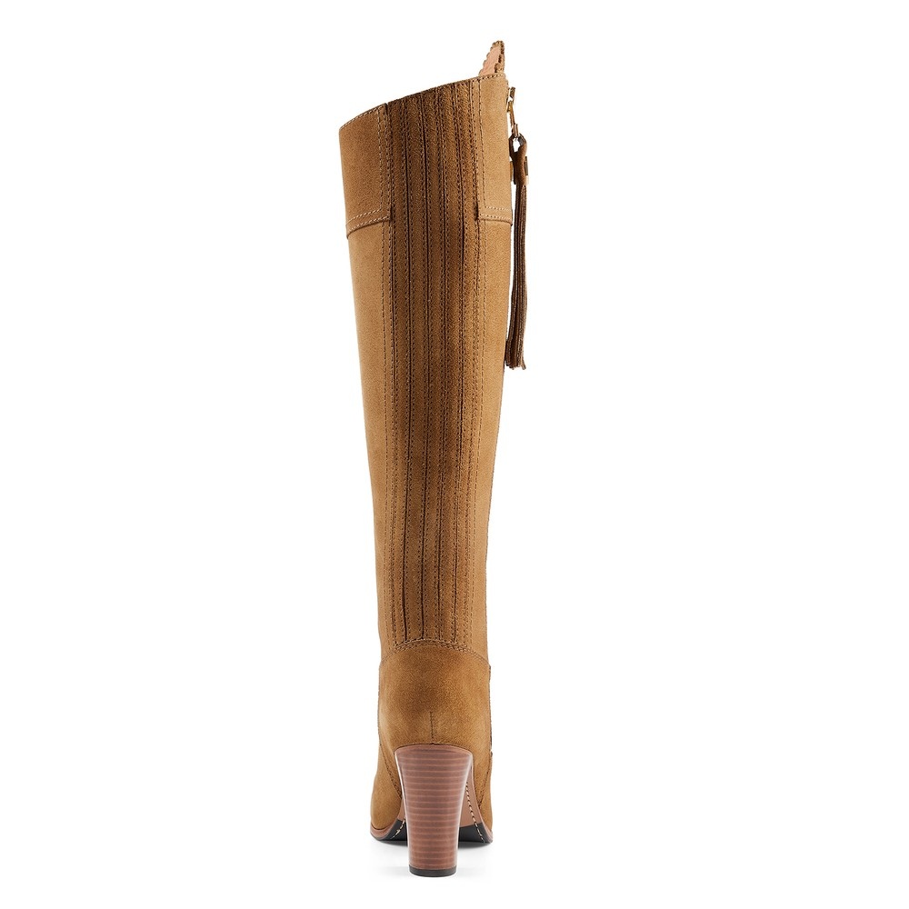 Fairfax & Favor High Heeled Regina Boot Tan