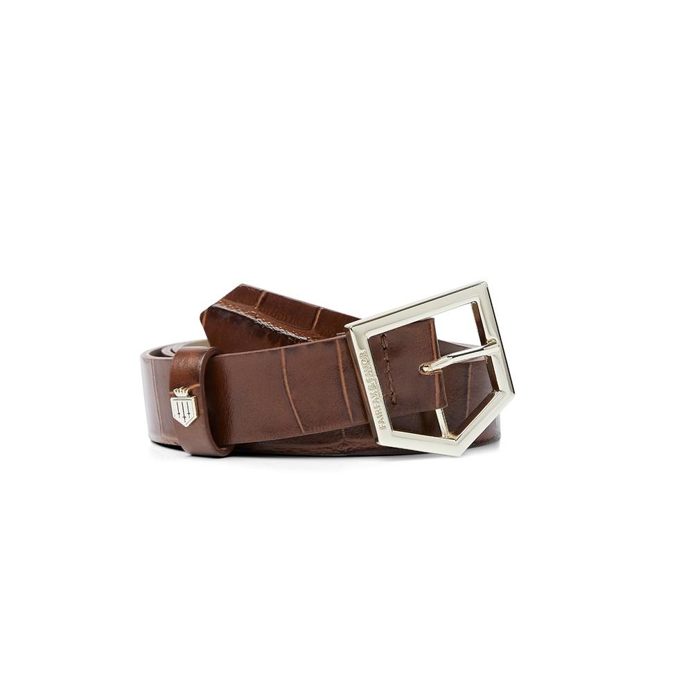 Fairfax & Favor Fairfax & Favor Sennowe Belt - Conker Brown