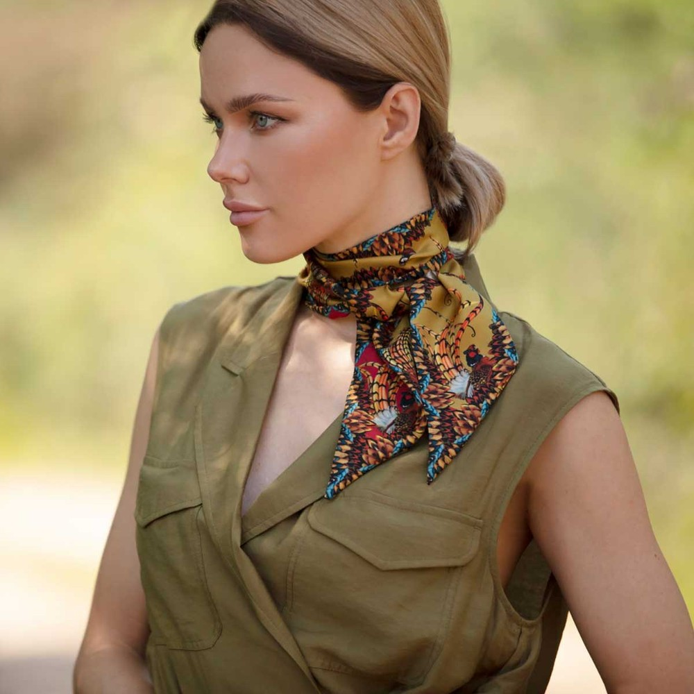 Clare Haggas Game Bird Twilly Red & Gold