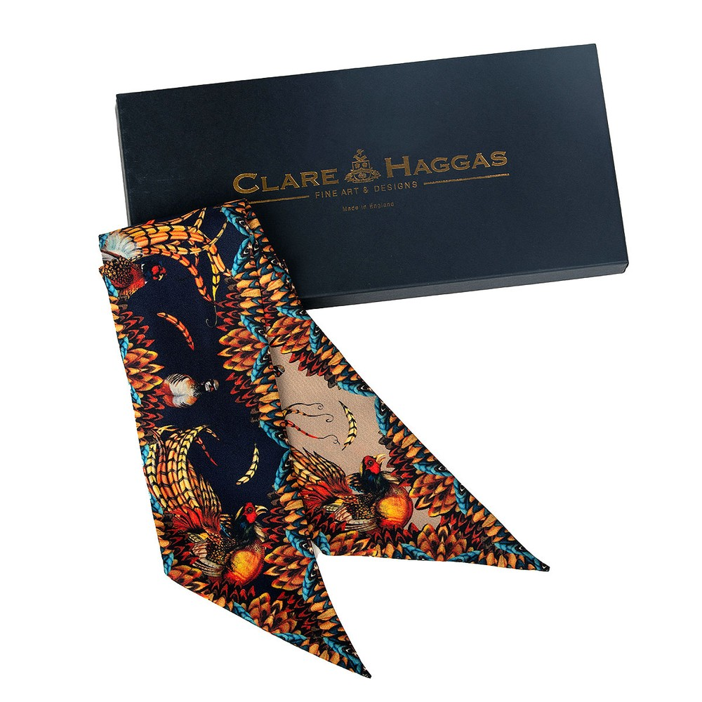 Clare Haggas Game Bird Twilly Toffee & Navy
