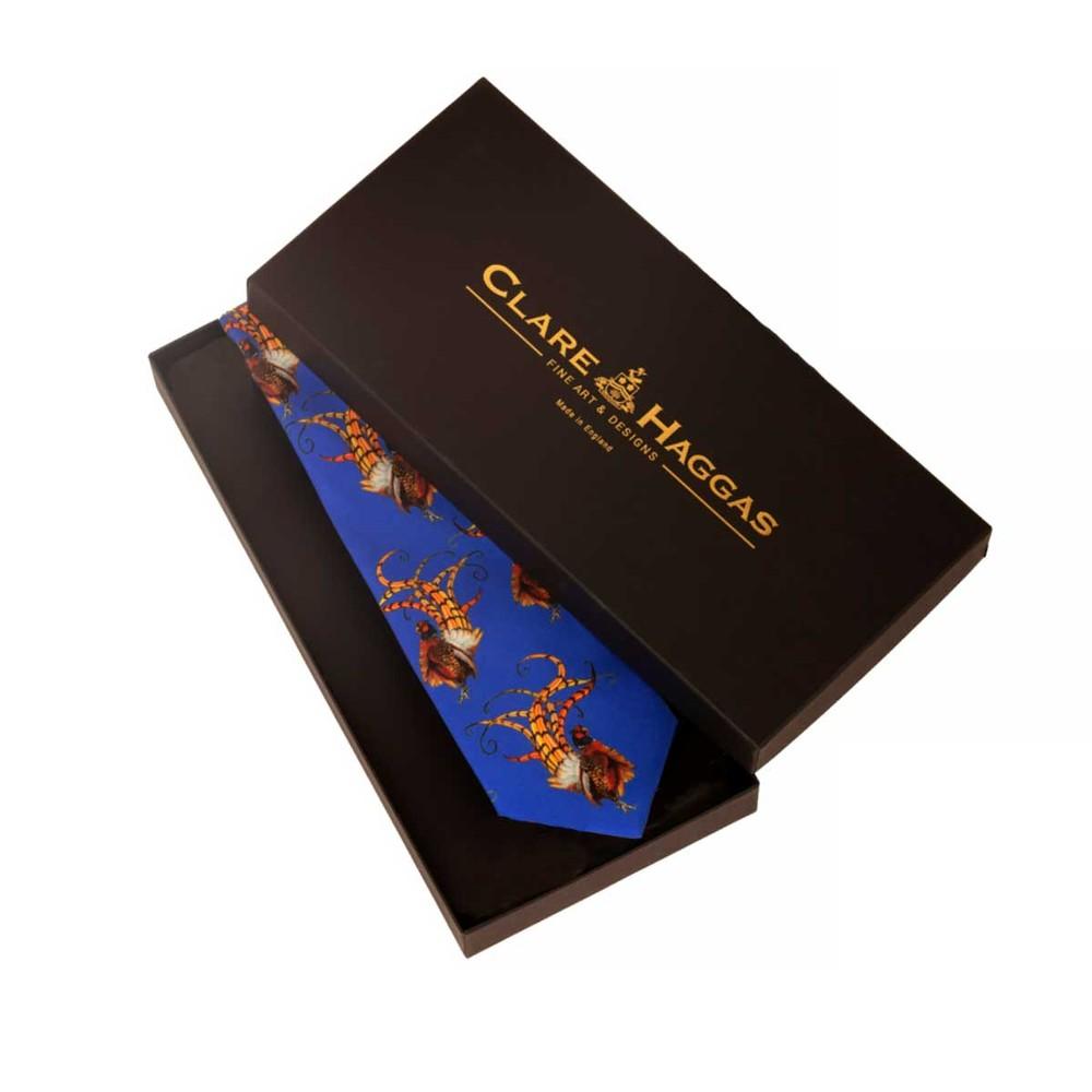 Clare Haggas Bruce Tie Admiral Blue