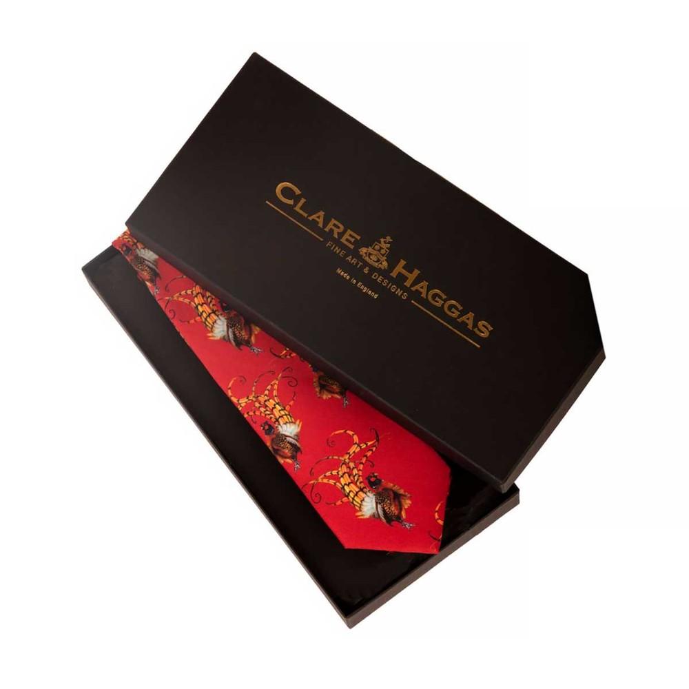 Clare Haggas Bruce Tie Royal Red