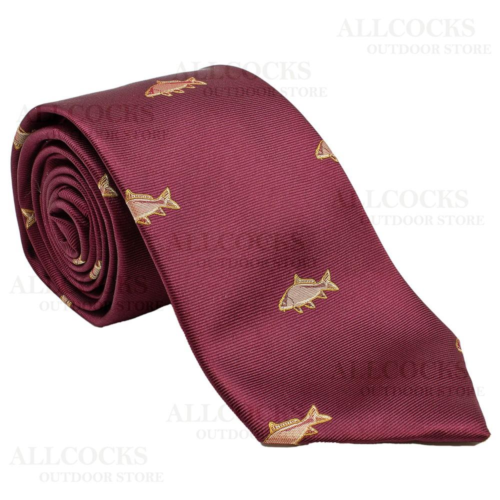 Allcocks Country Silk Tie - Carp - Wine